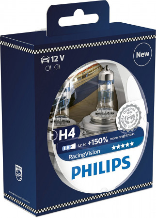 Ampoules H4 Philips RACING Vision+150