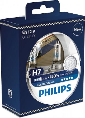 ampoules h7 philips racingvision pour feux phares auto. Black Bedroom Furniture Sets. Home Design Ideas