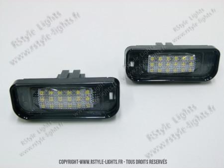 Blocs lampes Led d'éclairage de plaque MERCEDES Classe S W220