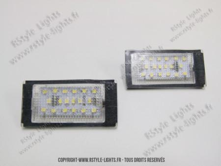 Blocs lampes Led d'éclairage de plaque BMW Série 3 E46 coupé