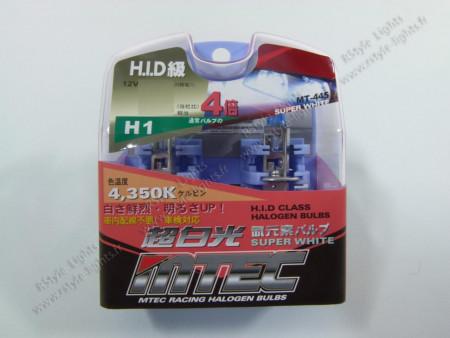 Pack 2 ampoules H1 Effet Xénon - Mtec - Super White 100W