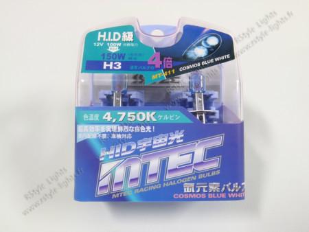 Pack 2 ampoules H3 Effet Xénon - Mtec - Cosmos Blue