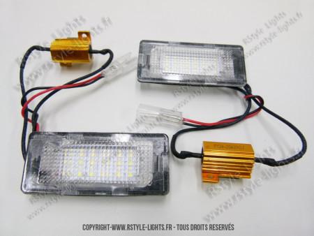 Blocs lampes Led d'éclairage de plaque Volkswagen type Touran 3