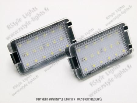 Blocs lampes Led éclairage de plaque Seat