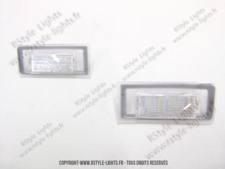 Blocs lampes Led d'éclairage de plaque AUDI TT 8N