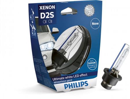 Ampoules de feux phares Xénon Philips WhiteVision D2S