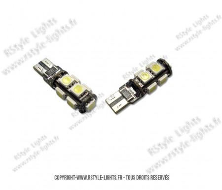 Ampoules Led W5W - Feux de Position-Veilleuses - Xtrem9 - Anti Erreur ODB