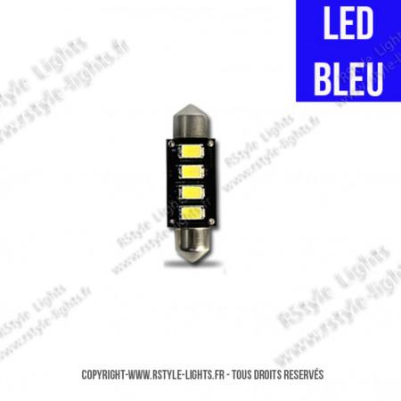 Ampoule Led BLEU - Navette C5W - Anti-Erreur ODB