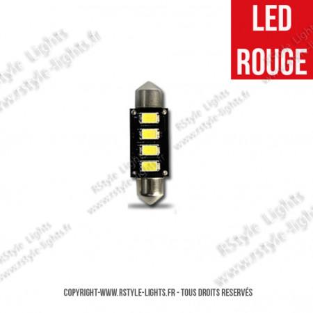 Ampoule Led ROUGE - Navette C10W - Anti-Erreur ODB