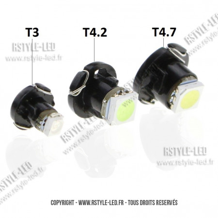 Ampoule Led sur support - T3 T4.2 T4.7