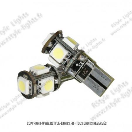 Ampoules Led W5W - Feux de Position-Veilleuses - Xtrem5 - Anti Erreur ODB