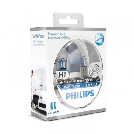 Ampoules H1 Philips WhiteVision