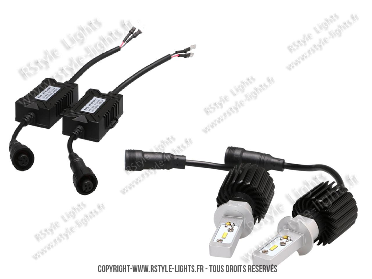 ampoules led phares h3 feux croisement route auto moto. Black Bedroom Furniture Sets. Home Design Ideas