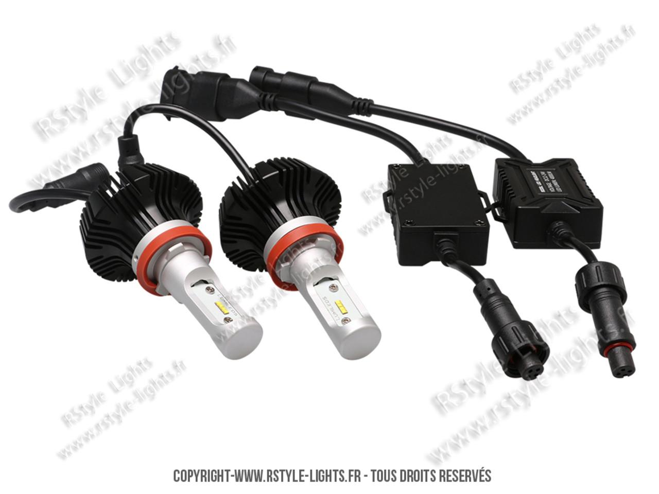 ampoules led phares h11 feux croisement route antibrouillards auto moto. Black Bedroom Furniture Sets. Home Design Ideas