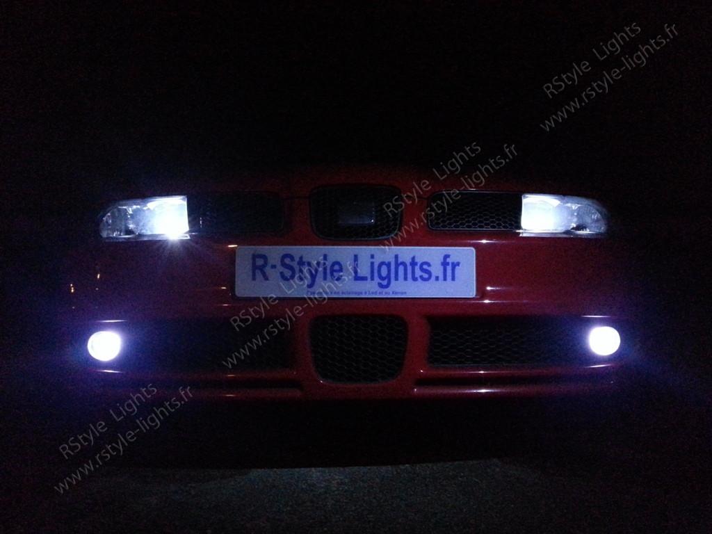 ampoules led phares feux croisement route antibrouillards seat leon 1m. Black Bedroom Furniture Sets. Home Design Ideas