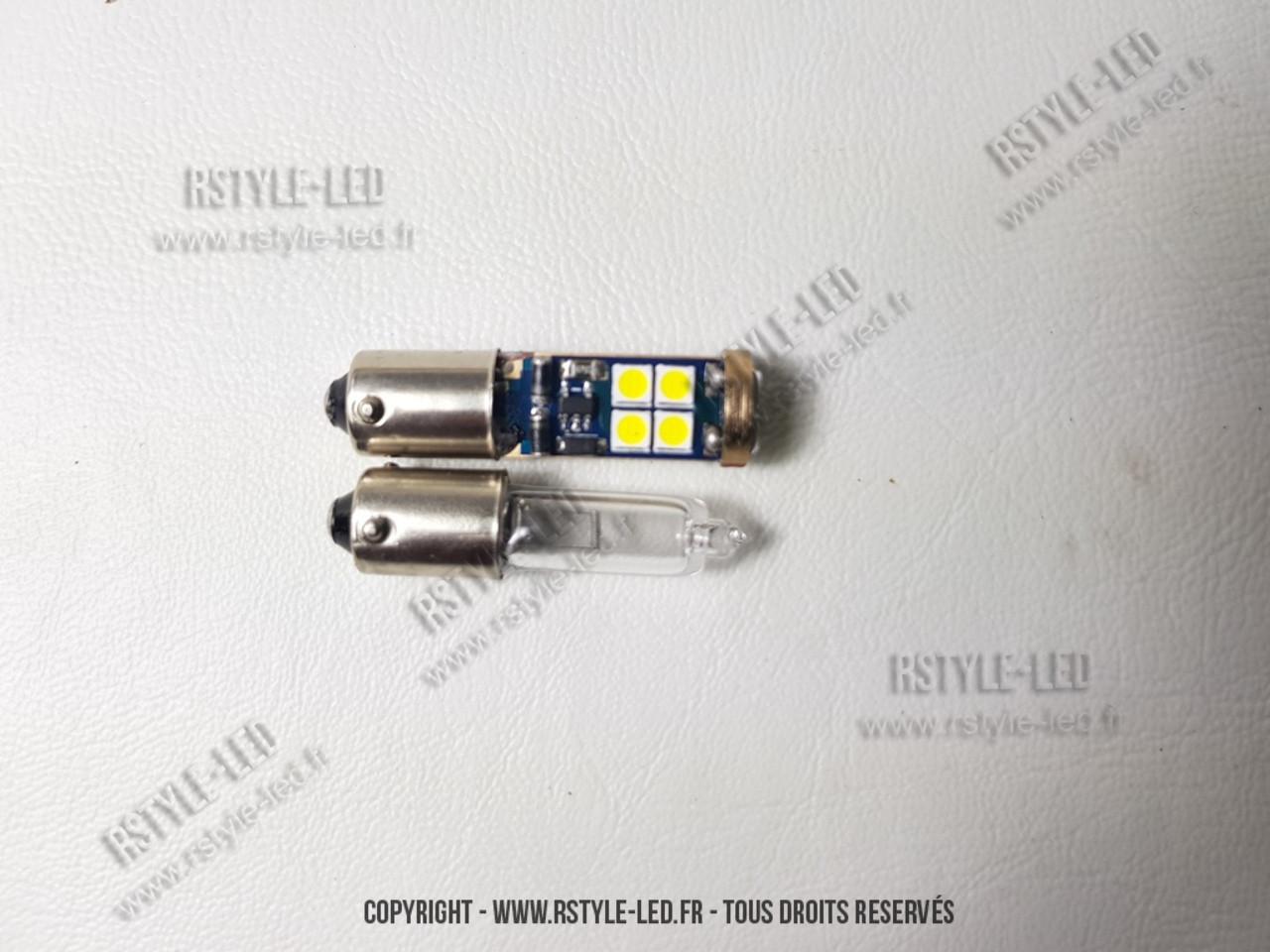 Led ba onnette h21w bay9s ampoule led voiture auto panther 12 blanc canbus anti erreur - Ampoule baionnette led ...