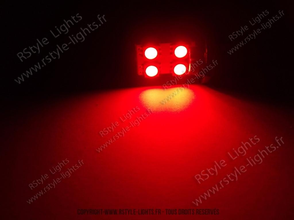 Led w5w rouge ampoule led voiture auto one face 4 - Ampoule led rouge ...