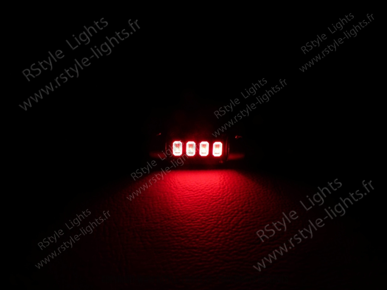led rouge navette c7w 39mm sans erreur odb ampoule led voiture auto festoon soffite. Black Bedroom Furniture Sets. Home Design Ideas