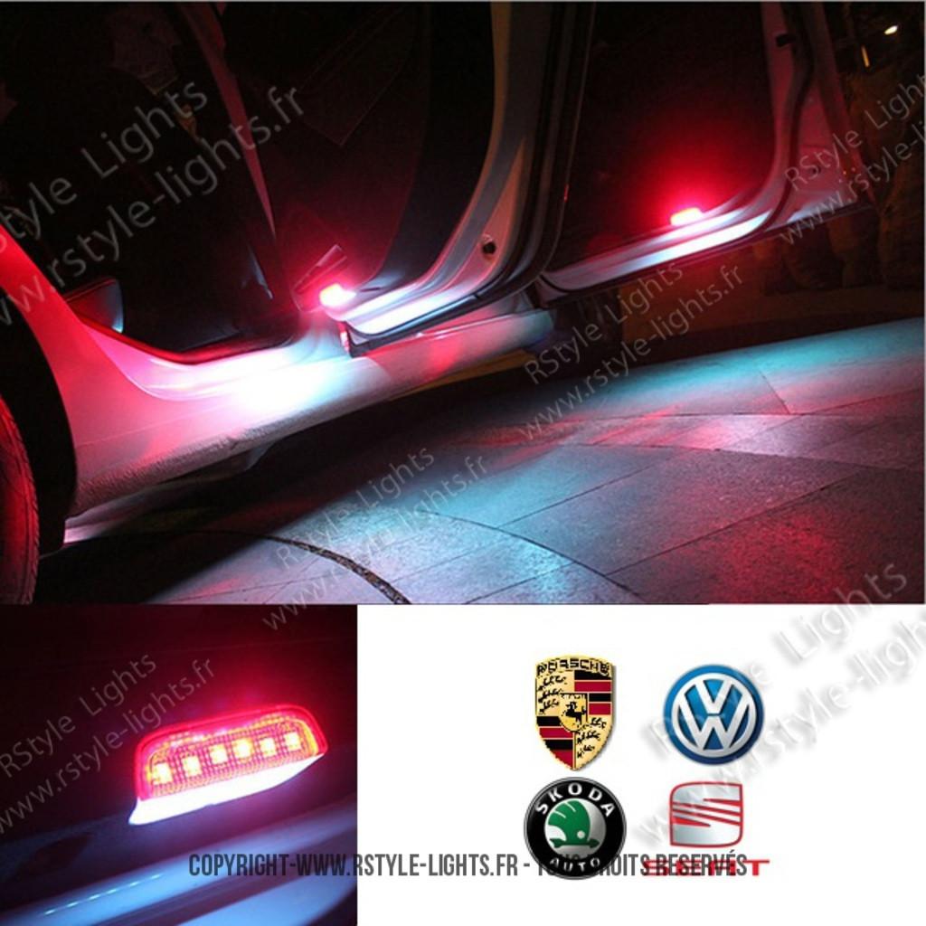 led w5w ampoule led voiture auto bas de portes skoda volkswagen porsche. Black Bedroom Furniture Sets. Home Design Ideas