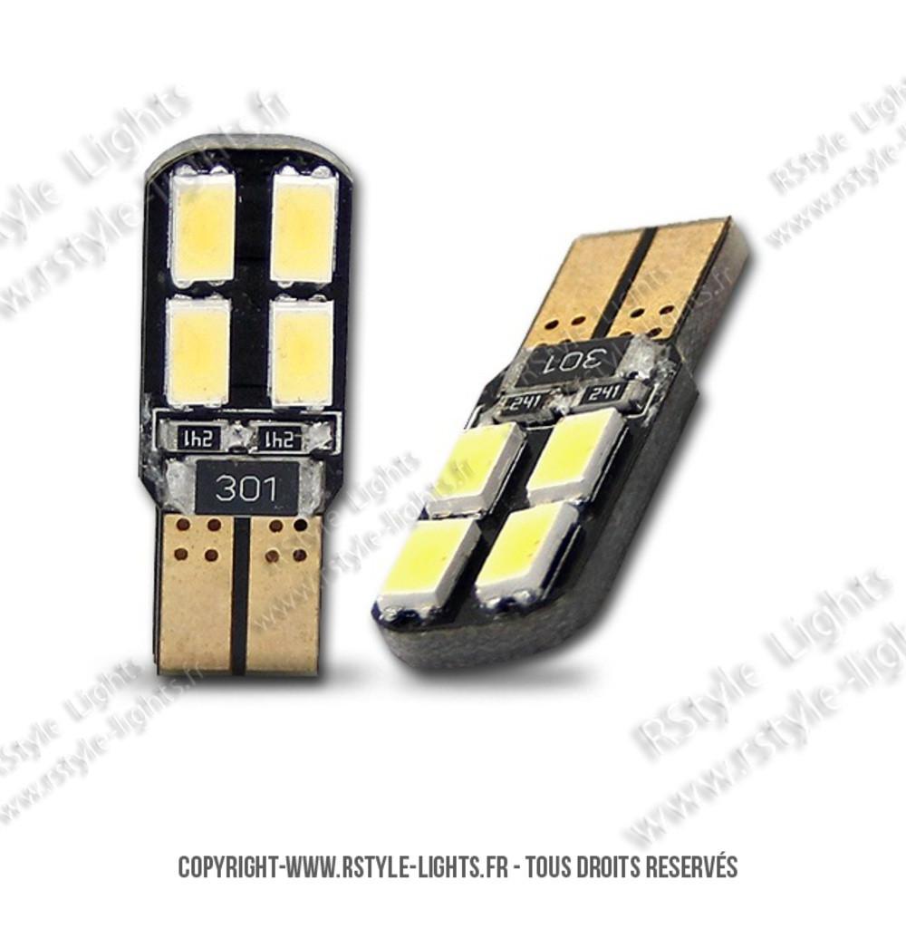 eclairage plaque immatriculation led w5w ampoule led voiture auto feux plaque dual face 8. Black Bedroom Furniture Sets. Home Design Ideas