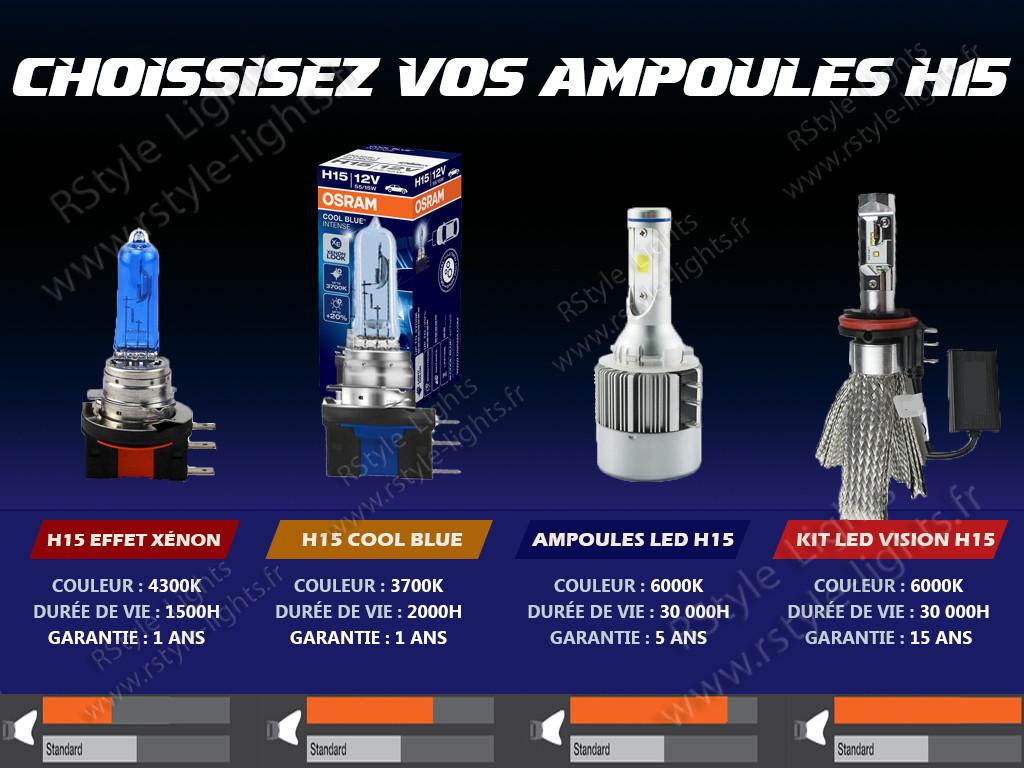 Jour Route Blanc Rapid Skoda Ampoules Led Et H15 Feux Pack De DYIH2EW9