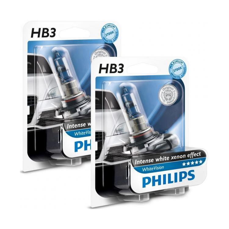 ampoule feux phares voiture blanc x non hb3 philips white vision. Black Bedroom Furniture Sets. Home Design Ideas