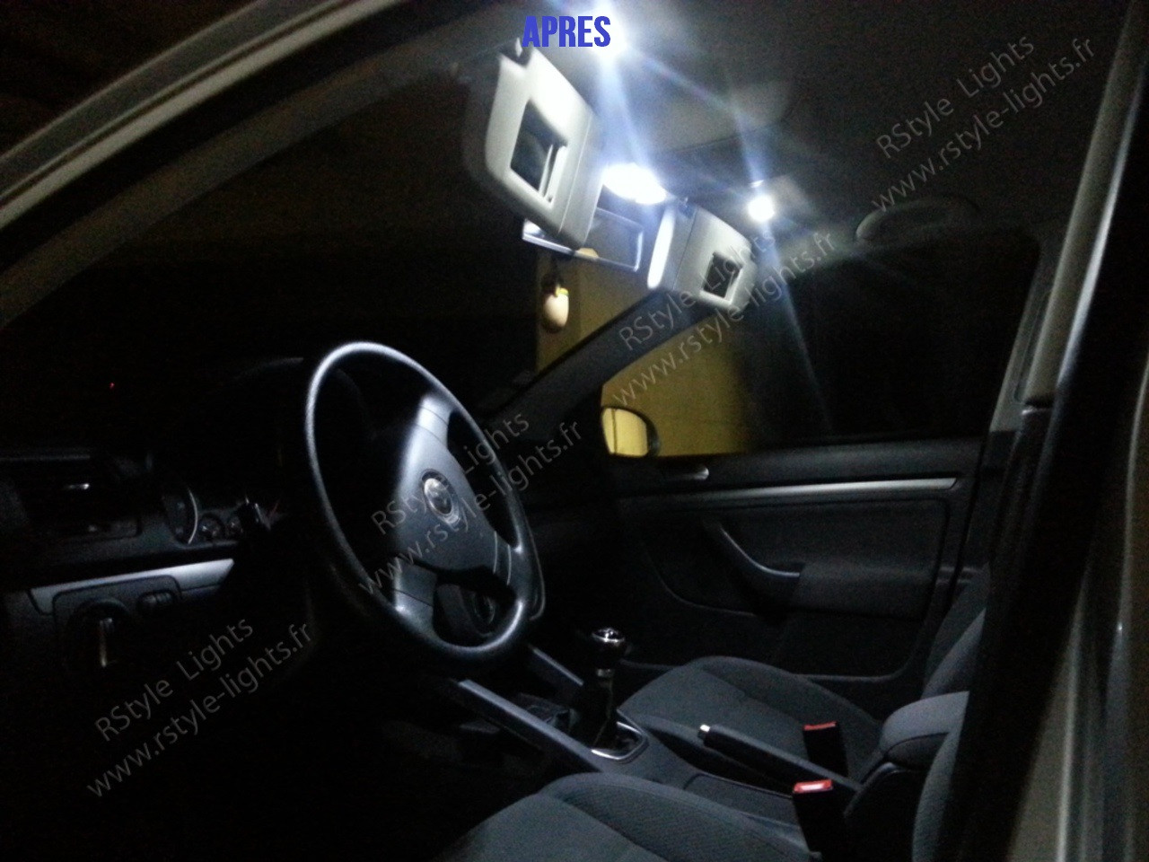 Pack full led int rieur vw golf 5 for Golf 8 interieur