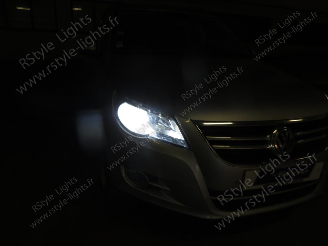 ampoules led phares feux croisement route antibrouillards vw tiguan 5n1. Black Bedroom Furniture Sets. Home Design Ideas