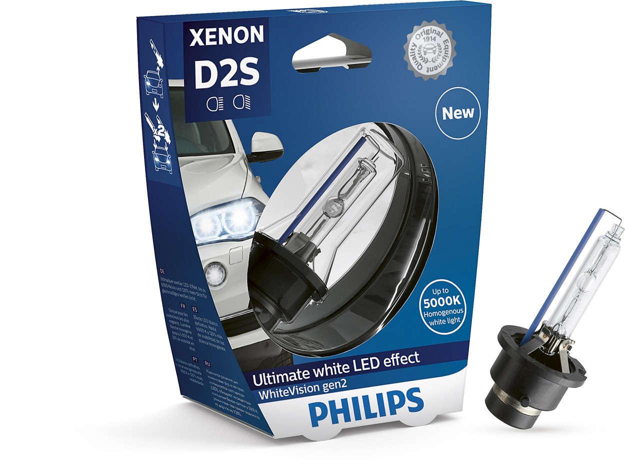 ampoules de feux phares x non philips whitevision gen2 d2s qualit constructeurs. Black Bedroom Furniture Sets. Home Design Ideas