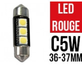 Ampoule Led ROUGE - Navette C5W