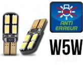 Ampoules Led W5W-  éclairage Plaque - Dual Face 8 - Anti Erreur ODB