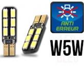 Ampoules Led W5W - éclairage Plaque - Dual Face 12 - Anti Erreur ODB