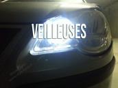 Veilleuses Blanc Pur pour Audi A4 B6 avec phares Xénon