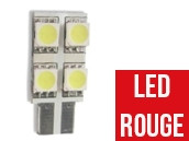Ampoule Led ROUGE W5W - One Face 4