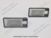 Blocs lampes Led d'éclairage de plaque AUDI A3 Q7