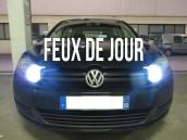 Pack ampoules H15 feux de jour et route blanc led - VW Golf 6