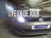 Pack ampoules  H15 feux de jour et route blanc led - VW Golf Sportvan