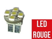 Ampoule Led ROUGE W5W - Front 5