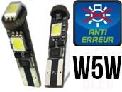 Ampoules Led W5W - Feux de Position-Veilleuses - JAGUAR 3 - Anti Erreur ODB
