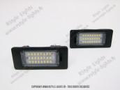 Blocs lampes Led d'éclairage de plaque BMW type E60 E90