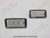 Blocs lampes Led d'éclairage de plaque BMW Série 7 E65 E66