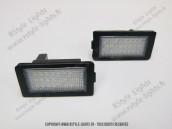 Blocs lampes Led d'éclairage de plaque BMW Série 7 E38