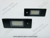 Blocs lampes Led d'éclairage de plaque BMW type Serie 1