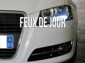 Feux de Jour/veilleuses Blanc Pur pour Audi A4 B8