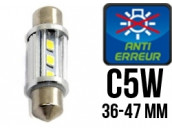 Ampoule Led Navette C5W - Globe WaterProof - Anti-Erreur ODB