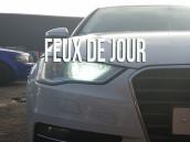 Pack ampoules H15 feux de jour et route blanc led - Audi A3 8V