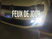 Feux de Jour Blanc Pur pour VW Polo 6C1