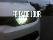 Feux de Jour Blanc Pur pour VW Scirocco Facelift