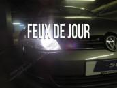 Pack ampoules  H15 feux de jour et route blanc led - VW Golf 7