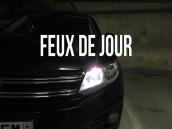 Pack ampoules  H15 feux de jour et route blanc led - VW Tiguan 5N2